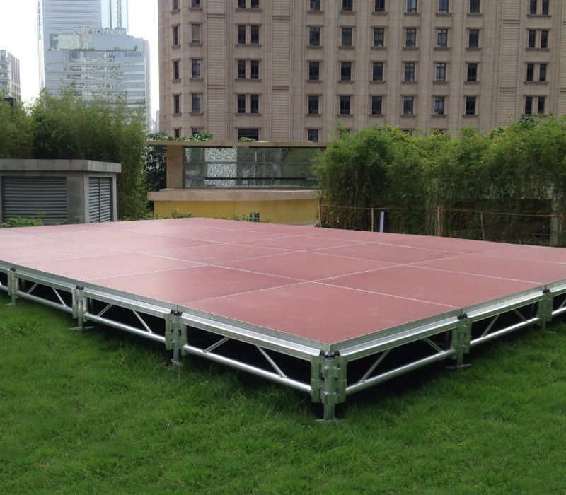 6082 Aluminum Movable Stage Platform 18mm Thinkness Anti Slip And Fireproof Plywood For event on water