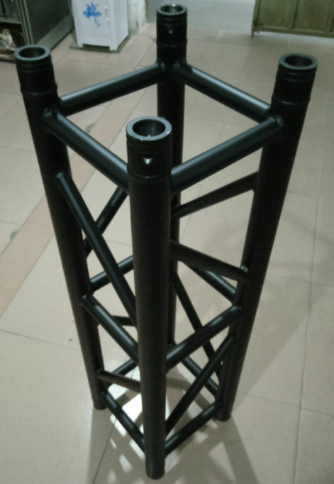 Black  Aluminum Spigot Stage Truss 300*300*1m Size For Indoor Show And Events