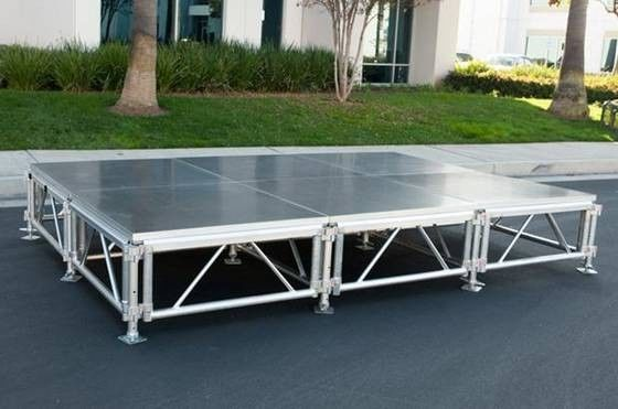 Night Bar Movable Stage Platform Aluminum Alloy 6061-T6 Easy Set Up