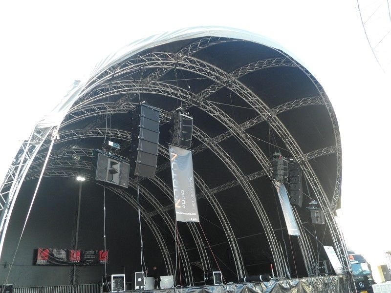 Large Arc Stage Truss Alloy Aluminum Tube For Concert Performance