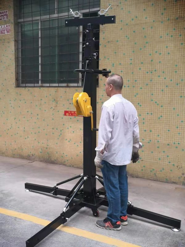Heavy Duty 250 KG Lifting Tower / Crank Stand For Event Lighting Truss