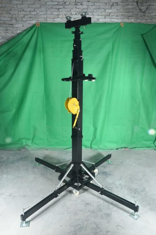 Event Lighting Speaker Truss Crank Stand / Telescopic Lifting Tower
