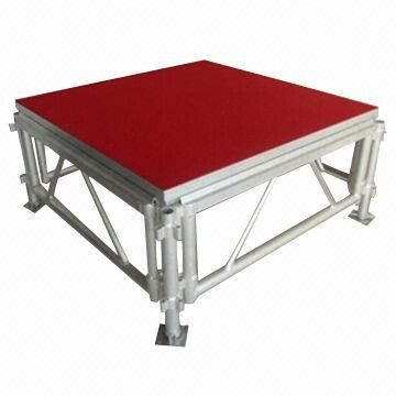 Portable Waterproof Acrylic / Plywood Temporary Stage Platforms Heavy Loading Adjustable Height