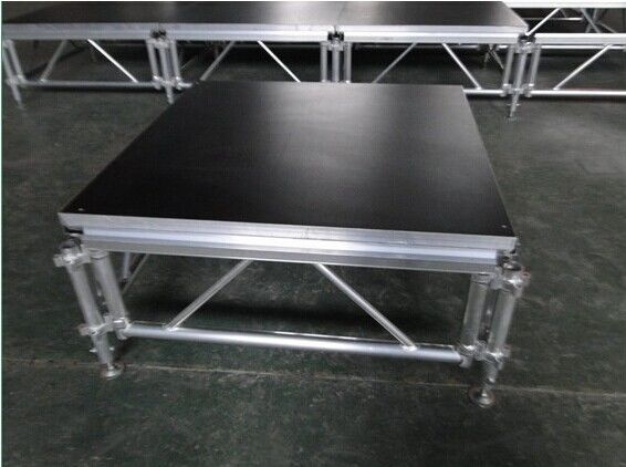 6082-T6 Aluminum Movable Stage Platform / 1.22 X 1.22m Outdoor Portable Stage