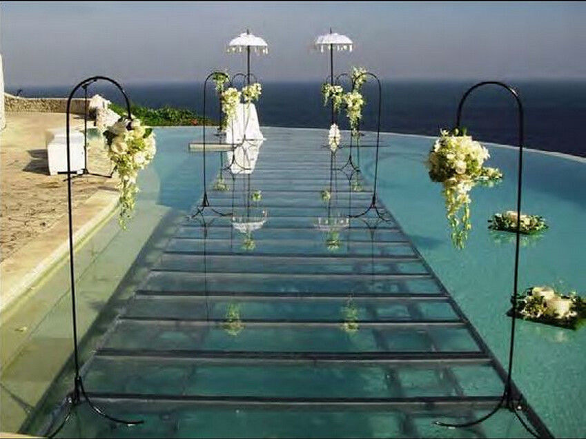 Swimming Pool Toughened Glass Stage 1.22 X 1.22M For Wedding