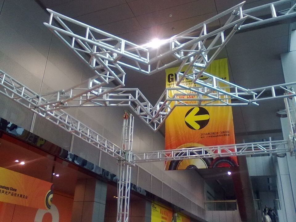 Silver  Square 5 Stars Stage Lighting Truss 300 x 300 For Performance