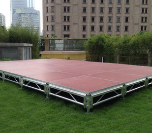 الصين Fast Install, Good loading Capacity, Brown Red Aluminum Plywood Portable Stage مصنع